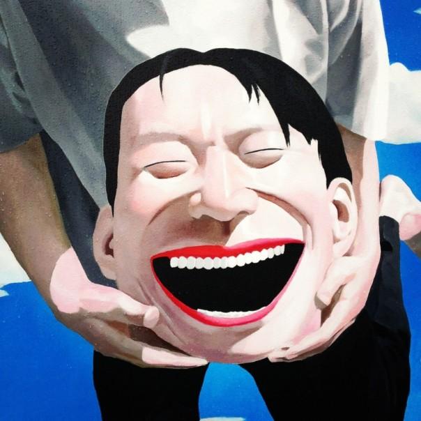 Yue-Minjun-sans-titre-1994-huile-sur-toile-exposition-lombre-du-fou-rire-artiste-chinois-Fondation-Cartier-Paris-1024x1024